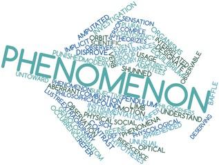 Word cloud for Phenomenon
