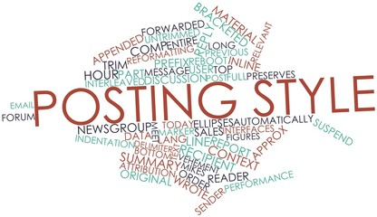 Word cloud for Posting style