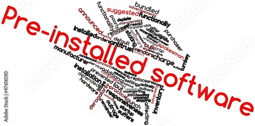 Word cloud for Pre-installed software
