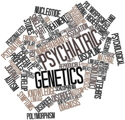 Word cloud for Psychiatric genetics