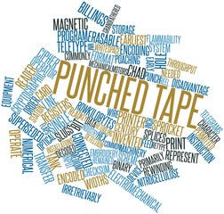 Word cloud for Punched tape