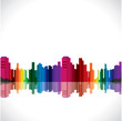 Colorful city stock vector