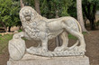 Lion Sculpture in the hill above Piazza del Popolo in Rome