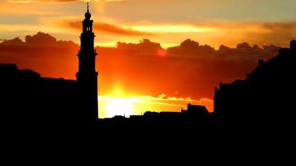 Nederland Westerkerk sunrise