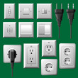 Electrical plug and light switch set