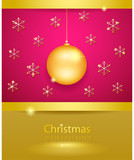Beautiful golden xmas background