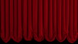 Red curtain.