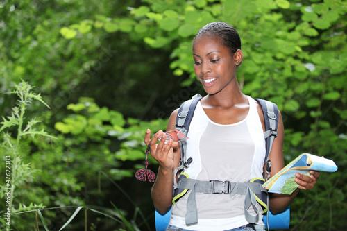 Woman stood outdoors