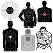 Set of 6 Vector Shooting Targets