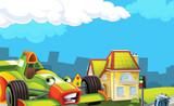 Cartoon city look with f1