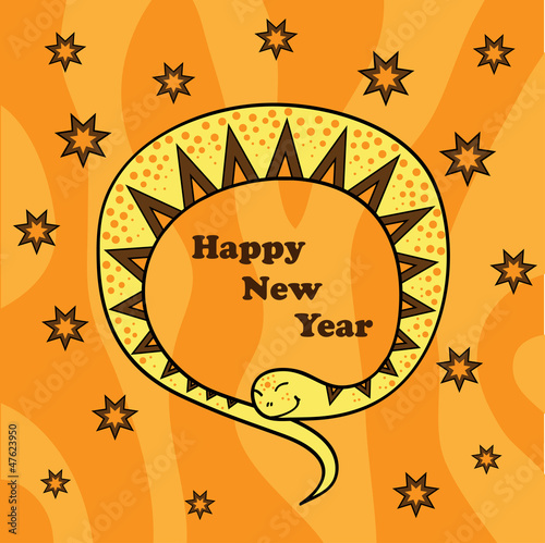 New Year card 2013 (vector) orange