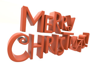 Merry Christmas text isolated