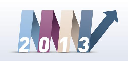 Carte de voeux 2013 ruban et flêche