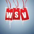 WSV Etiketten mit Eiszapfen
