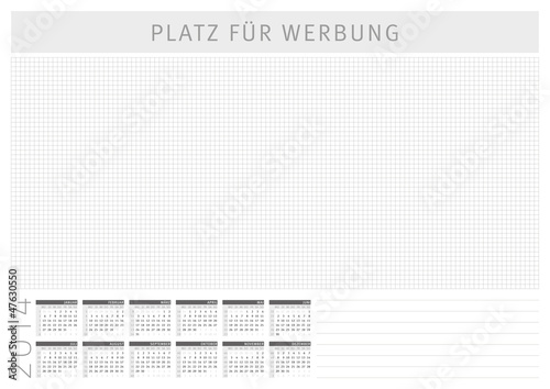 schreibtischunterlage mit kalender 2014 stockfotos und. Black Bedroom Furniture Sets. Home Design Ideas