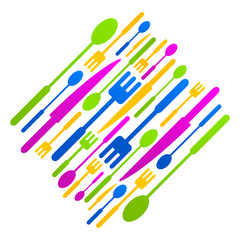 kitchen colored logo icon