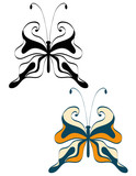 Abstract image openwork butterfly poster