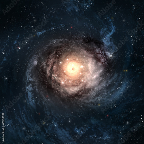 Incredibly beautiful spiral galaxy somewhere in deep space © Vadimsadovski