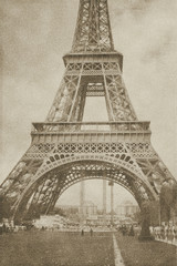 vintage eiffel tower paris