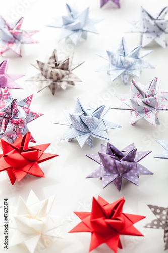 Variation of Paper Christmas stars