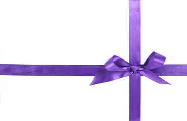 purple ribbon, isolated on white