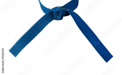 Tied Karate Blue Belt