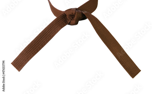 Tied Karate Brown Belt