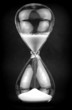 Hourglass dark background