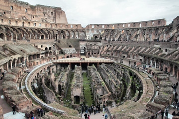The ancient Collosseo