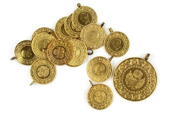 Turkish gold. Quarter and half gold