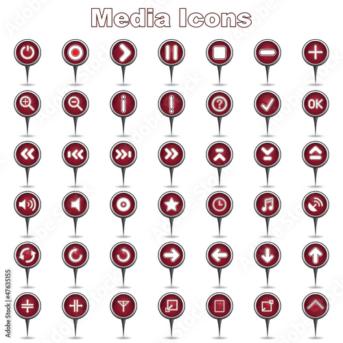 Set of Media/Music Icons