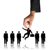 Human Resources concept: choosing the perfect candidate for the