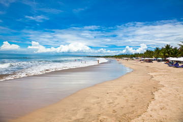 Beautiful sandy Dreamland beach on Bali.