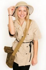 Junge Touristin