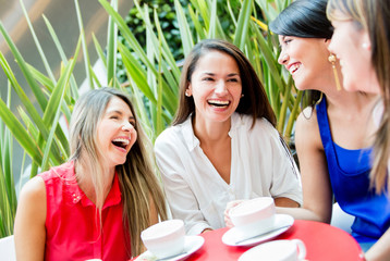Girls having a coffee