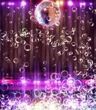 Abstract disco ball_Background with Bubbles.