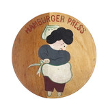 Old Wooden Hamburger Press Top
