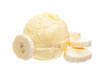 Bananeneis auf weißem Hintergrund
