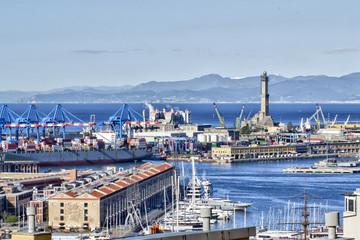 Il porto di Genova Visto dall'alto