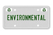 Environmental Car  License Plate
