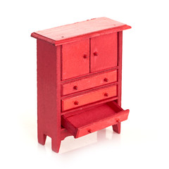 red cabinet for children