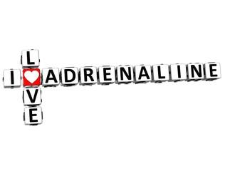 3D  I Love Adrenaline  Crossword