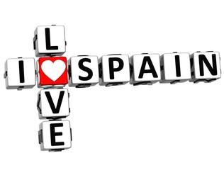 3D I Love Spain Crossword