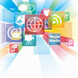 Abstract Background for Social Networking