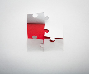 Paper cut of  Puzzle background with copy space for text or desi
