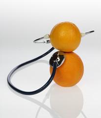 Stethoskop mit Orangen