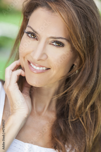 Portrait of A Beautiful Middle Aged Woman