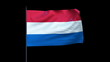 The Netherlands Flag Waving, Seamless Loop, Alpha