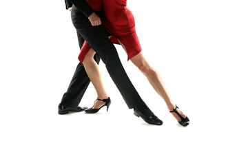 tango dancers isolation background