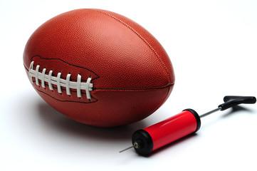 American football and pump